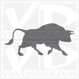 Charging Bull Car Vinyl Decal Sticker