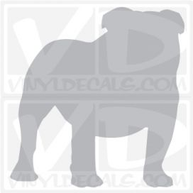 English Bulldog Vinyl Decal