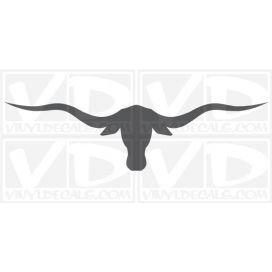 Bull Horns Car Vinyl Decal Sticker