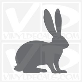 Bunny Rabbit Car Vinyl Decal Sticker