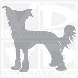 Chinese Crested Vinyl Decal