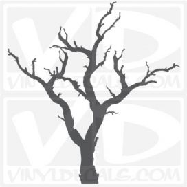 Spooky Dead Tree Vinyl Wall Decal Sticker