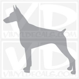 Doberman Pinscher Vinyl Decal