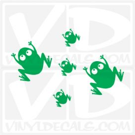 Frog Family Car Vinyl Decal Sticker