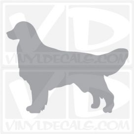 Golden Retriever Dog Vinyl Decal