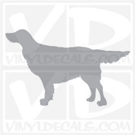 Irish Red and White Setter Dog Vinyl Decal