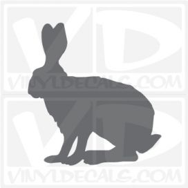 Bunny Jack  Rabbit Car Vinyl Decal Sticker