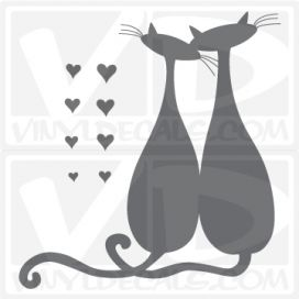 love cats wall vinyl decal stickers
