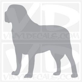 Mastiff Dog Vinyl Decal