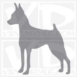Miniature Pinscher Dog Vinyl Decal