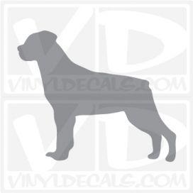 Rottweiler Dog Vinyl Decal