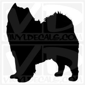 Samoyed Dog Vinyl Decal