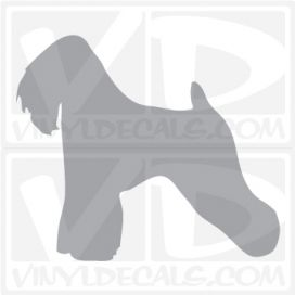Soft Coated Wheaten Terrier Dog Vinyl Decal