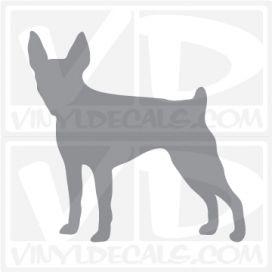 Toy Fox Terrier Dog Vinyl Decal