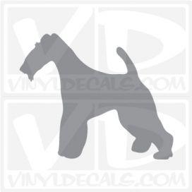 Wire Fox Terrier Dog Vinyl Decal