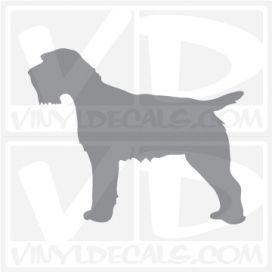 Wirehaired Pointing Griffon Dog Vinyl Decal