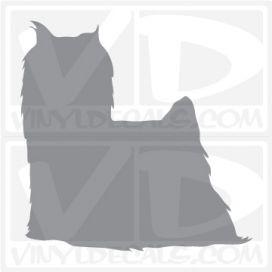 Yorkshire Terrier Dog Vinyl Decal
