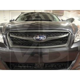 Carbon FIber installed on grille of Subaru