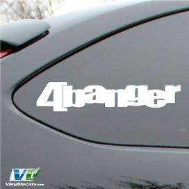 4 Banger Vinyl  Decal