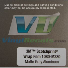 Matte Gray Aluminum 3m 1080 Wrapping Film