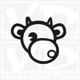Cow Mascot Vinyl  Decal