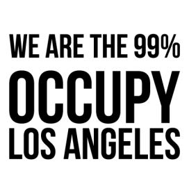 Los Angeles - Custom City Occupy Movement Vinyl Decal Sticker