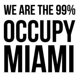 Miami - Custom City Occupy Movement Vinyl Decal Sticker