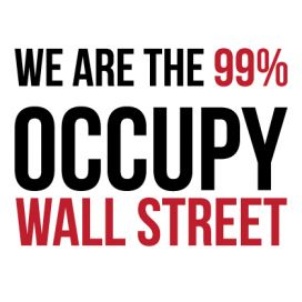 Occupy Wall Street - Two Color Vinyl Decal Sticker