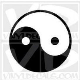 Ying Yang Vinyl Decal Sticker
