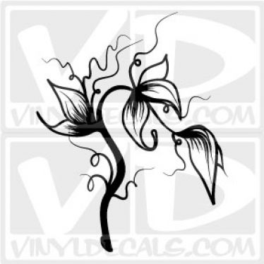 Floral Vinyl Wall Decal Sticker
