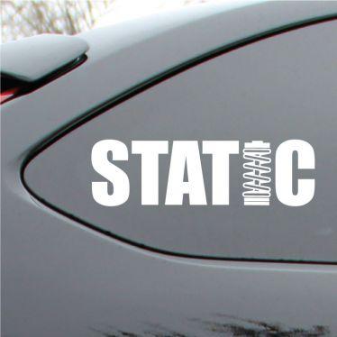 Static drop Vinyl Decal