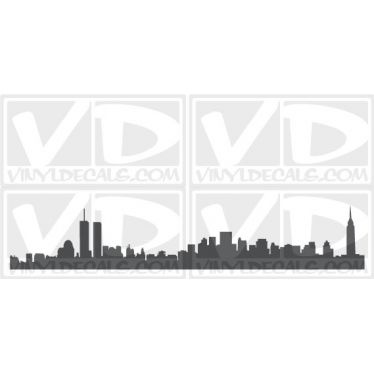 New York Skyline Vinyl Wall Art Decal Sticker