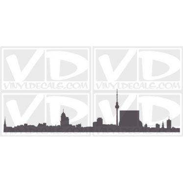 Berlin Germany Skyline Vinyl Wall Art Decal Sticker
