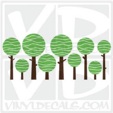 Lolly Tree Wall Art Decal Sticker
