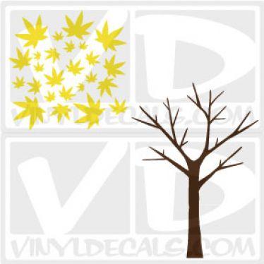 Maple Leaf Tree Wall Art Decal Sticker