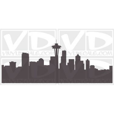 Seattle Washington Skyline Vinyl Wall Art Decal Sticker