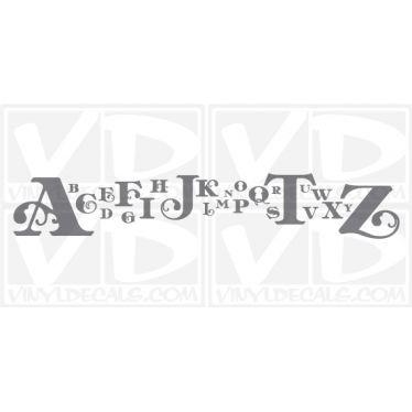 Anna Banana Alphabet wall vinyl decal stickers