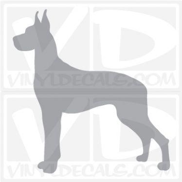 Great Dane Dog Vinyl Decal