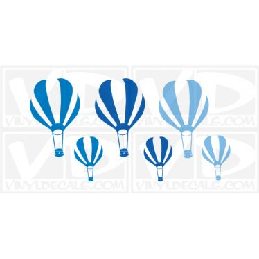 Printed Hot Air Balloons Wall Art Decal Sticker