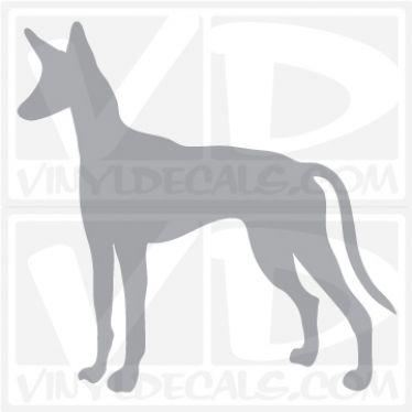 Ibizan Hound Dog Vinyl Decal