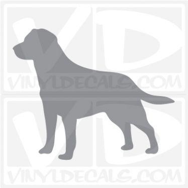 Labrador Retriever Dog Vinyl Decal