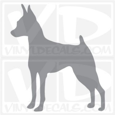 Miniature Pinscher Dog Vinyl Decal