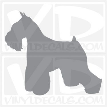 Miniature Schnauzer Dog Vinyl Decal