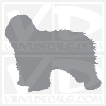 Polish Lowland Sheepdog Dog Vinyl Decal