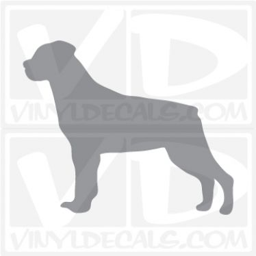 Rottweiler Dog Vinyl Decal