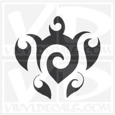 Tribal Swirl Turtle Vinyl Decal