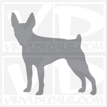 Toy Fox Terrier Dog Vinyl Decal