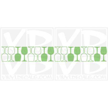 Wine Glass Pattern wall vinyl decal stickers