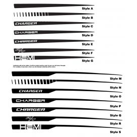 Charger quarter panel stripe options