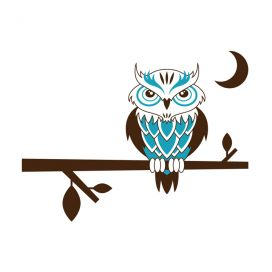 Owl Wall Art Decal